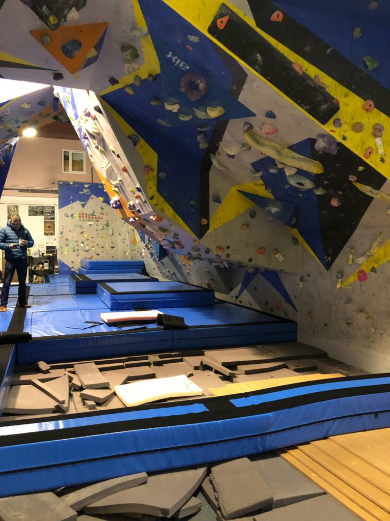 Galway Co-op indoor bouldering wall